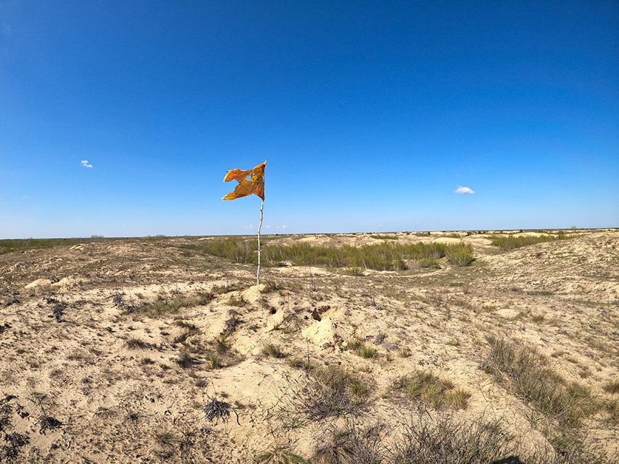 Флаг в пустыне
