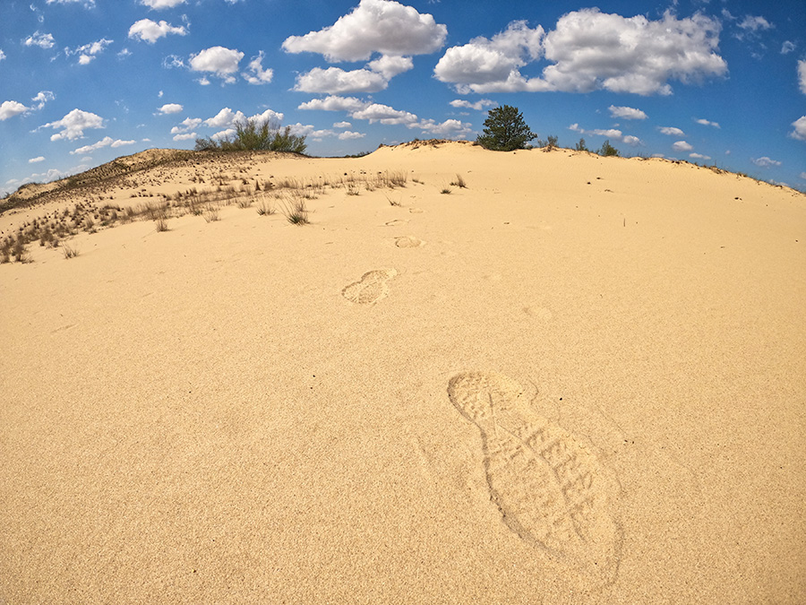 След на песке