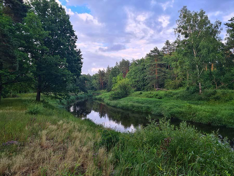 Вечерняя река
