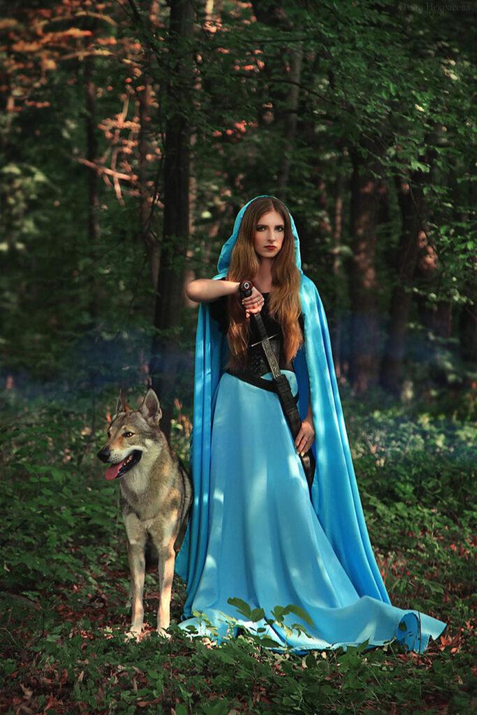 Фотосессия с волком