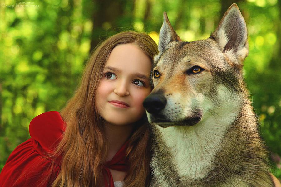 Юная принцесса и волк