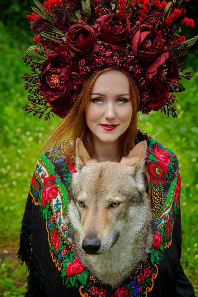 Украиночка и волк